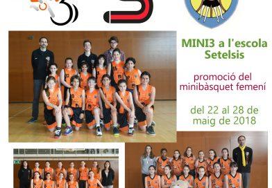 Del 22 al 28 de maig es farà promoció de bàsquet femeni a l'escola Setelsis