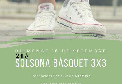 Ja pots inscriure't al 3×3, que es farà el diumenge 16 de setembre