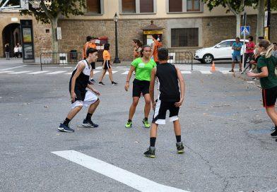 El bàsquet va ser protagonista a la plaça del Camp de Solsona