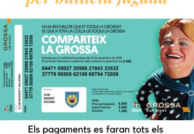 La loteria de la Grossa ens retorna 1,75€ per butlleta jugada