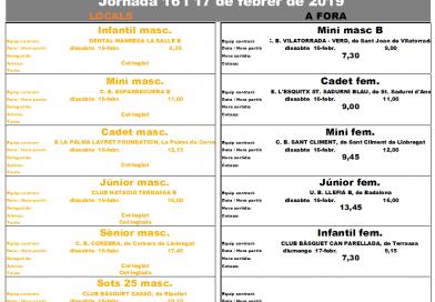 Calendari de partits del  16 i 17 de febrer